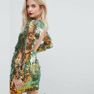 ASOS Iridescent Sequins Dress
